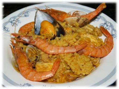 Paella de pescado la cocina divertida - Paella de pescado ...