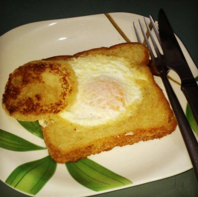 Huevos encestados