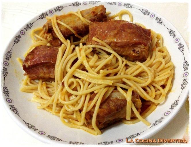 espaguetis-costilla-adobada