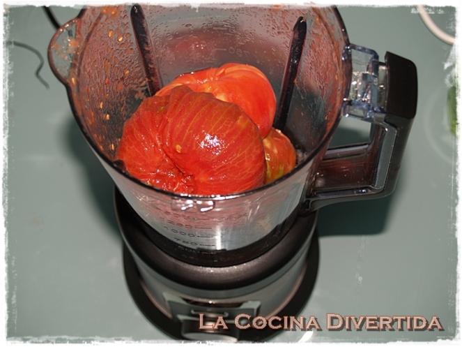 Salsa de tomate frito casera