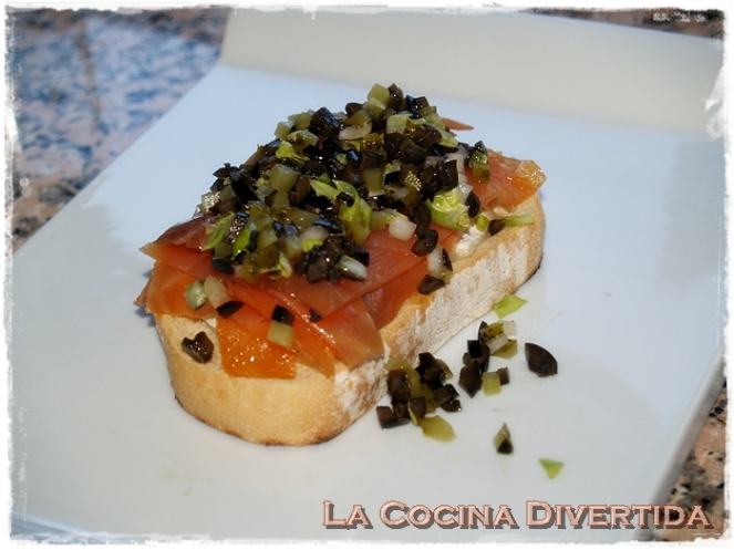 Sandwich de salmon y queso