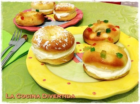 Mini roscones de reyes la cocina divertida - Roscones de reyes ...