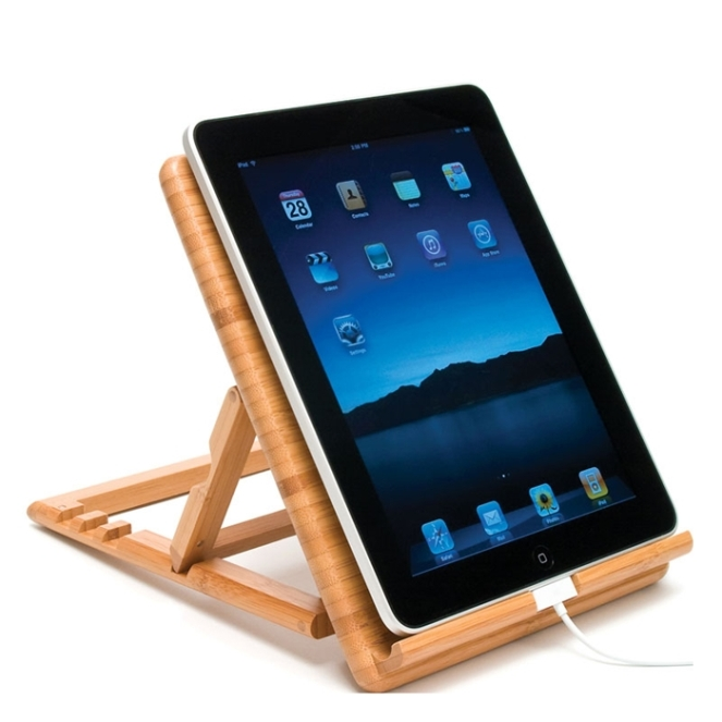 bamboo ipad stant