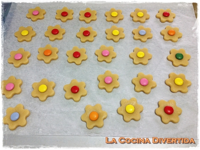 Galletas de mantequila con lacasitos