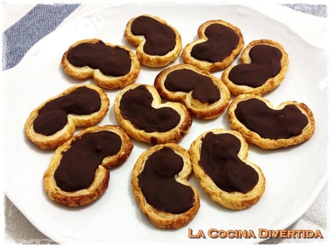 palmeritas de chocolate