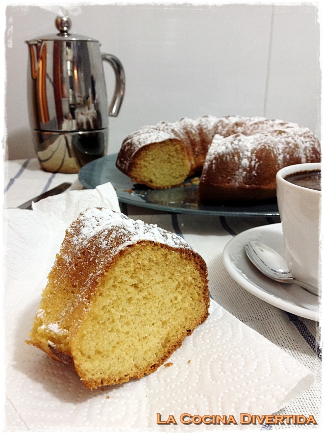 bizcocho bundt cake nata montada