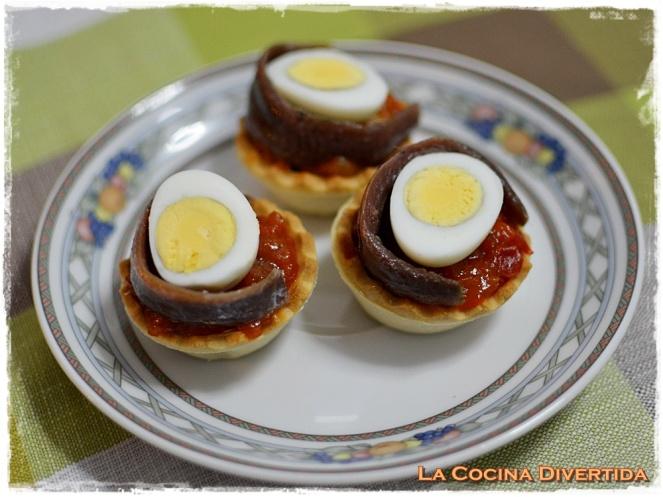 cazuelitas pisto huevo anchoa