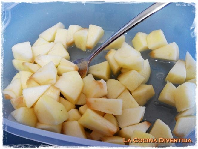 Ensalada de pasta con manzana, nueces y vinagreta de miel