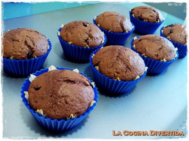 muffins de chocolate y naranja