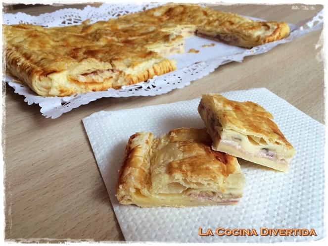 empanada de bacon, queso y crema de champiñones