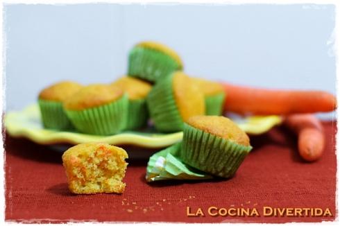 mini magdalenas de zanahoria
