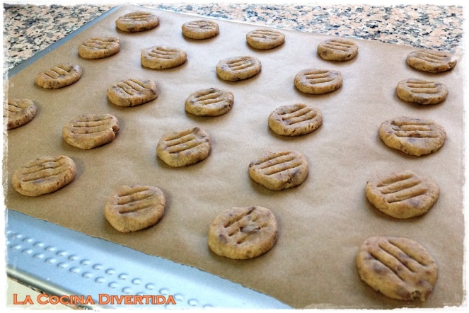 galletas cookies de chocolate sin azúcar con stevia