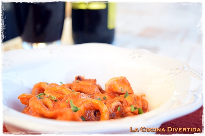 calamares con tomate natural