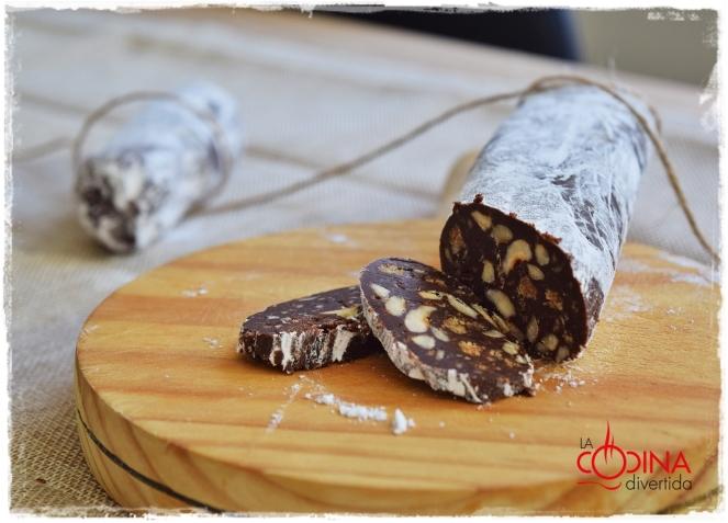 fuet de chocolate trampantojo morcilla
