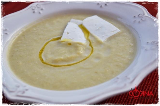 crema de calabacín con queso de Villalón