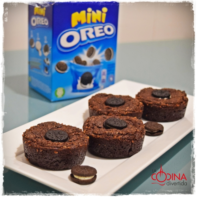 Mini brownie de Oreo