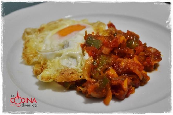 fritada pimientos con huevo
