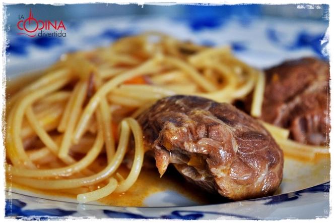 espaguetis con carrilleras